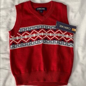 ⚜️ NWT Cherokee sweater vest size 18 months